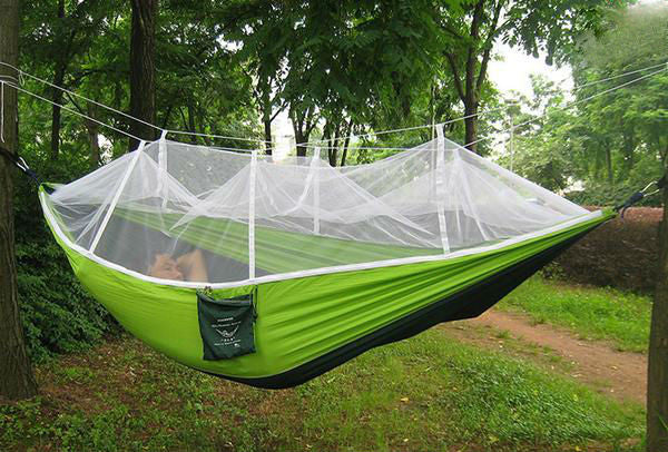 TreeHouse Hammock with Mosquito Net - Green