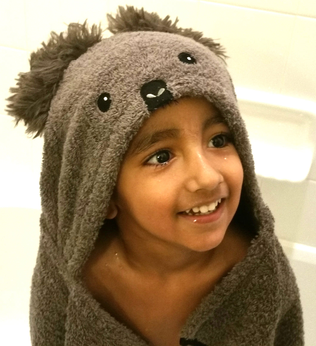 Koala Hooded Luxury Bath Towel Gift Set for Kids, Toddlers and ...