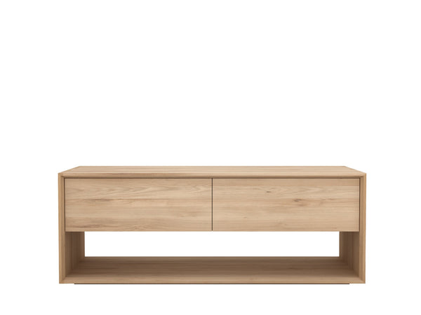 Oak Nordic TV cupboard