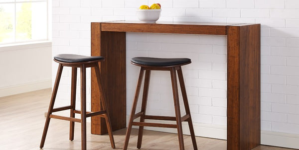 Corona Exotic with Leather Seat Counter Stool