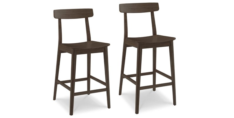 Currant Black Walnut Bar Stool