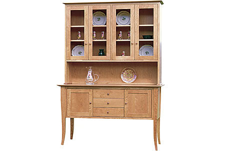 Flare Leg Buffet and Hutch