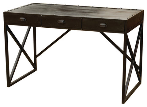 Iron Desk with Three Drawers