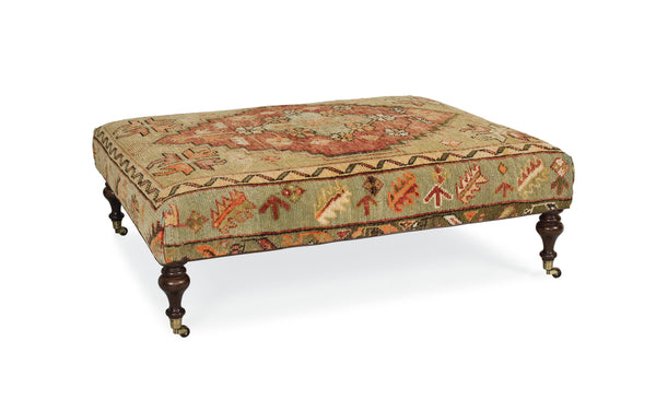 Antique Rug Ottoman A by Lee Industries