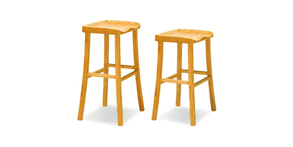 Tulip Caramelized Bar Stool