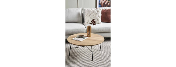 Oak Disc round coffee table