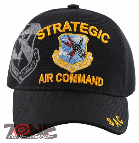 98badd6eb08 STRATEGIC AIR COMMAND SAC US AIR FORCE USAF BALL CAP HAT BLACK