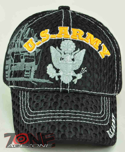 70ea1c1e782 NEW! US ARMY ARMY CAP HAT TANK MESH BLACK – AceZone.com
