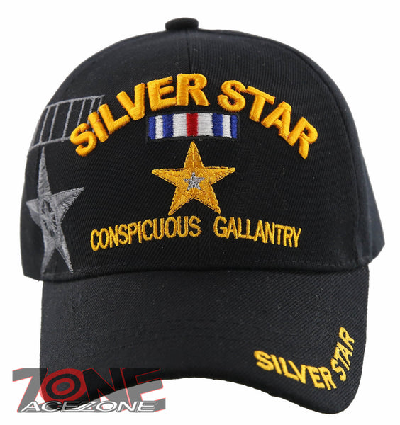 36c0b66ab SILVER STAR MEDAL CONSPICUOUS GALLANTRY US MILITARY BALL CAP HAT