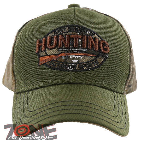 JUST SHOOT IT HUNTING OUTDOOR SPORTS HUNTER BALL CAP HAT OLIVE ... 722b65be9f4