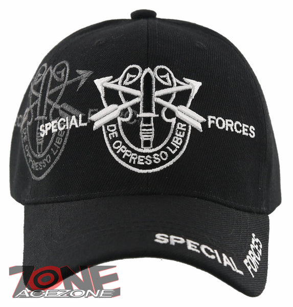 36b3495bd5a NEW US ARMY SPECIAL FORCES DE OPPRESSO LIBER CAP HAT BLACK – AceZone.com