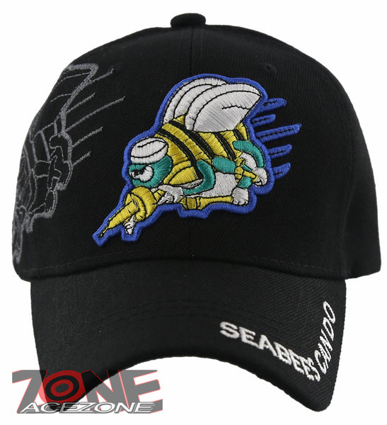1efc299369a NEW! US NAVY SEABEES CAN DO BASEBALL CAP HAT BLACK – AceZone.com