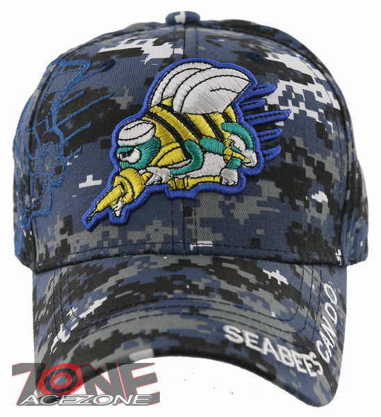 New Us Navy Seabees Can Do Baseball Cap Hat Digital Navy