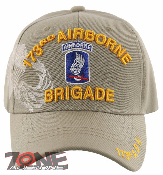 845a5978db8 NEW! US ARMY PARATROOPER BRIGADE 173RD AIRBORNE BALL CAP HAT TAN ...