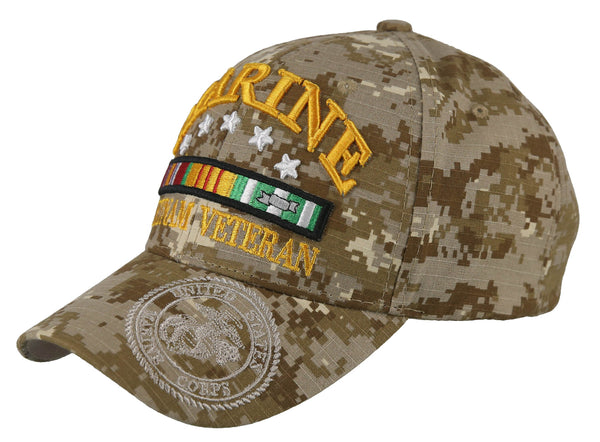 d0bb6e1e9 NEW! USMC US MARINE VIETNAM VETERAN GRAY SHADOW CAP HAT DESERT CAMO
