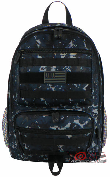 6e4f57b169 East West USA Tactical Molle Military Backpack Hiking Bag RTC509 NAVY ACU
