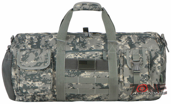 b322ce19c33c East West USA Tactical Molle Military Round Duffel Bag RTDC703M ACU