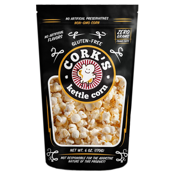 Open Me When and Cork's Kettle Corn