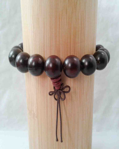 Red Sandalwood Bead Bracelet