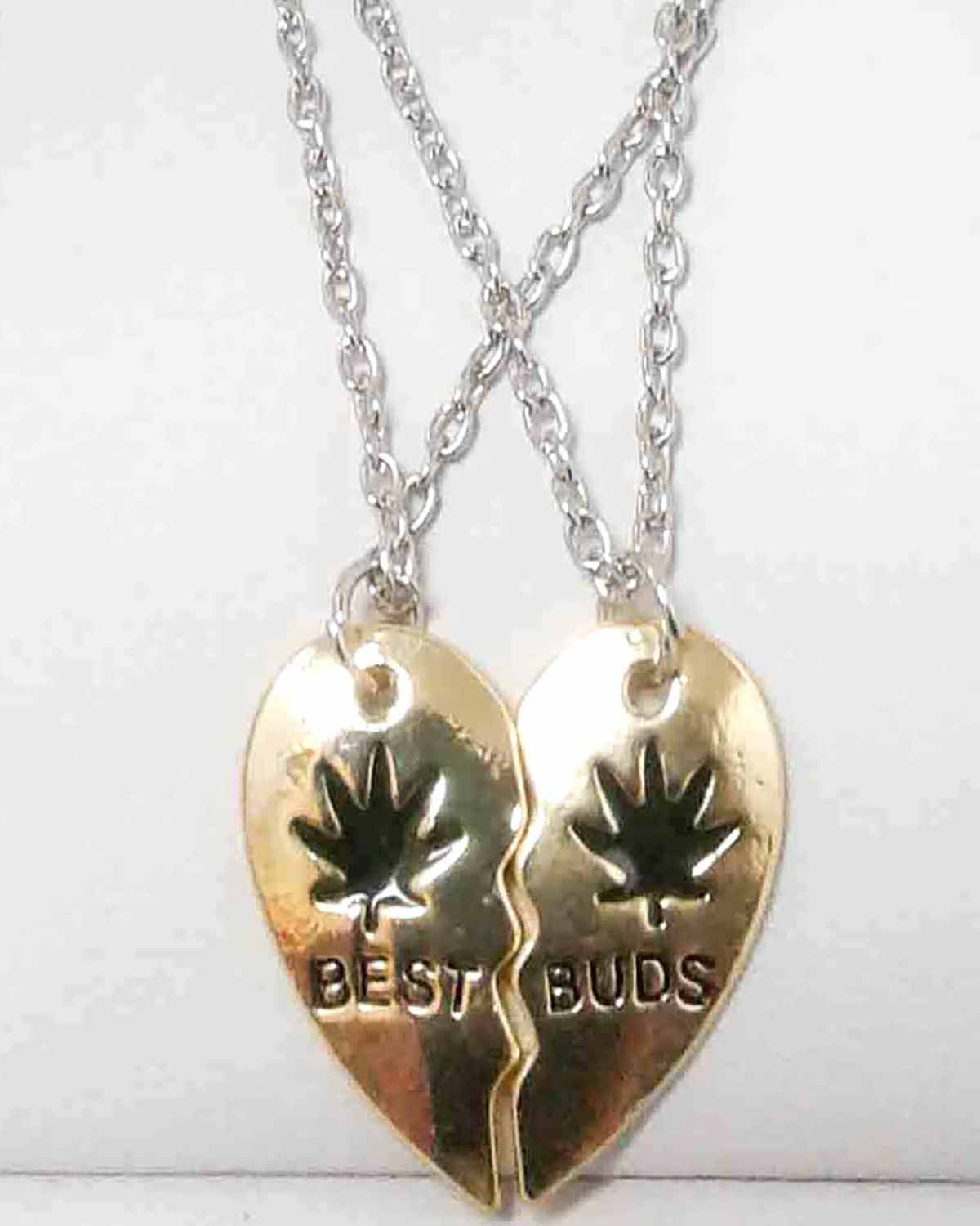 Gold-Plated Best Buds Two-Piece Pendant Set