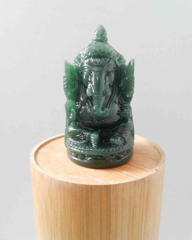 Green Ganesha Figurine