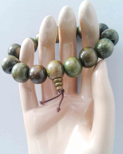 Green SandalWood Beaded Bracelet