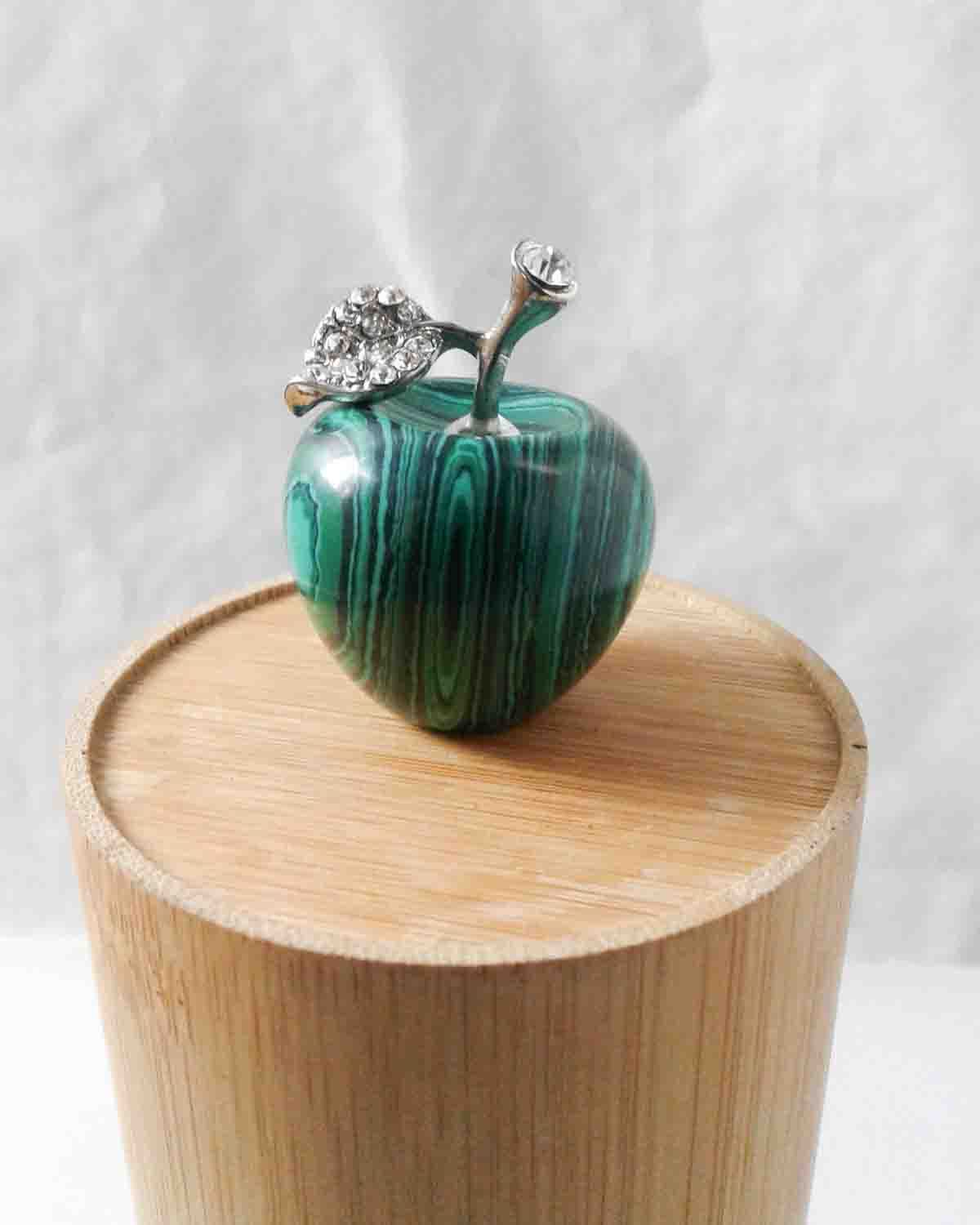 Malachite Apple Stone