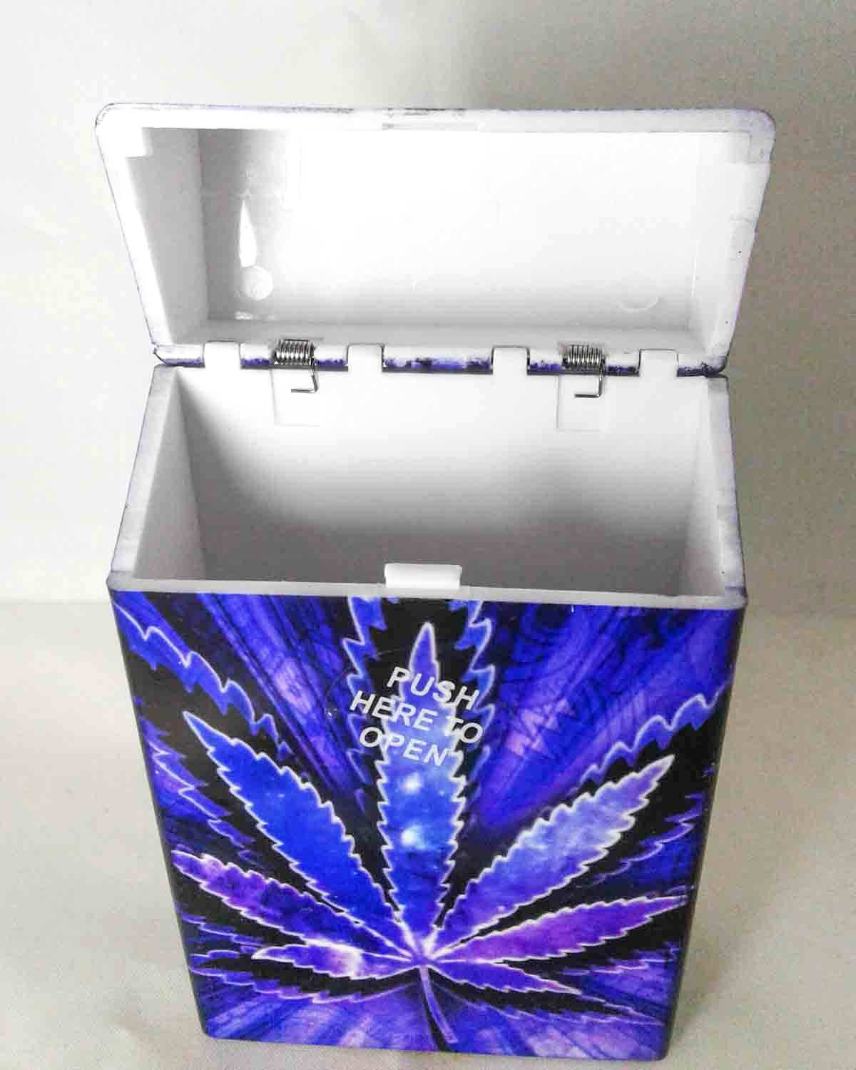 purple pot leaf cigarette case