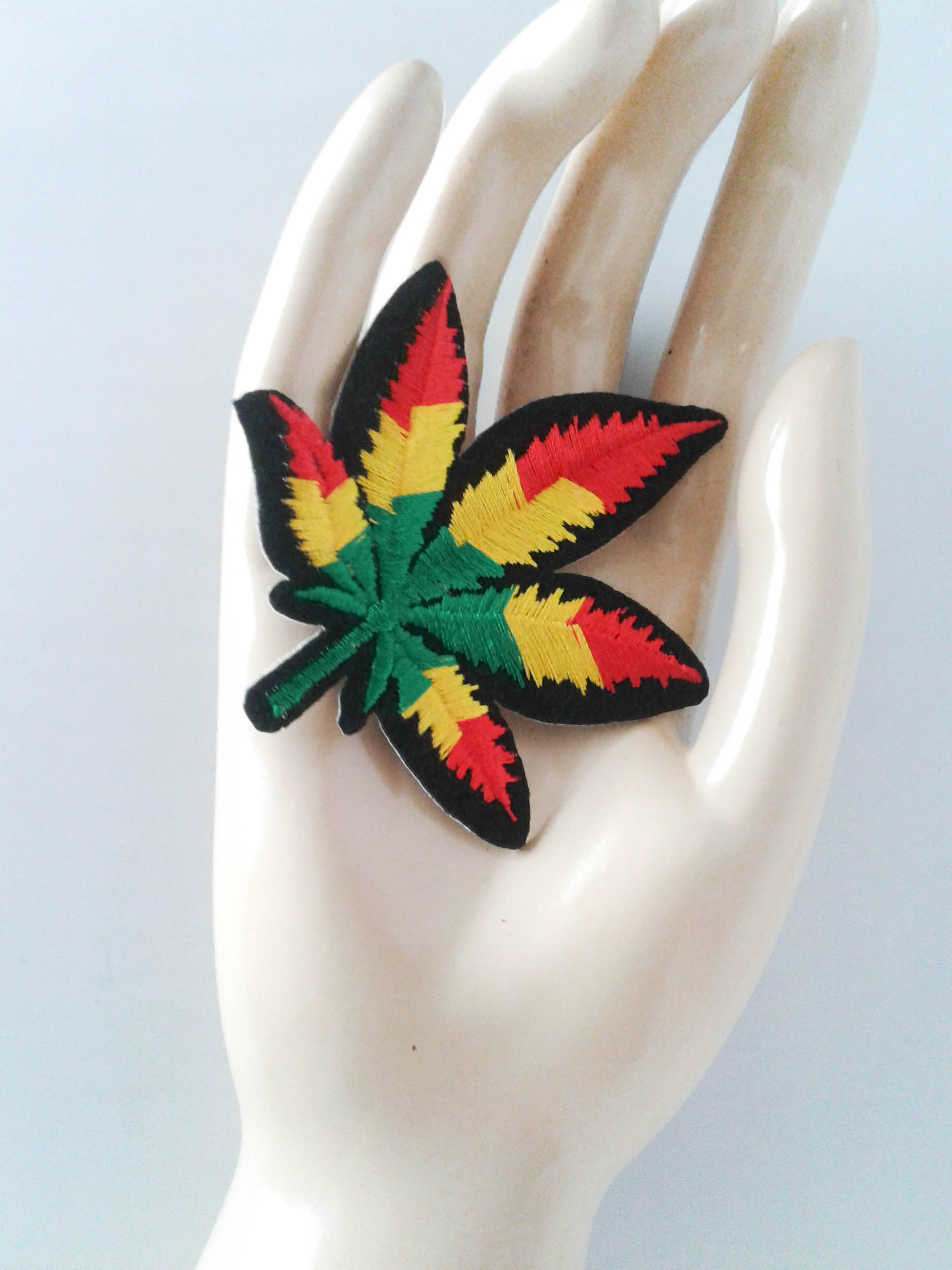 Fat Rasta Cannabis Leaf Patch