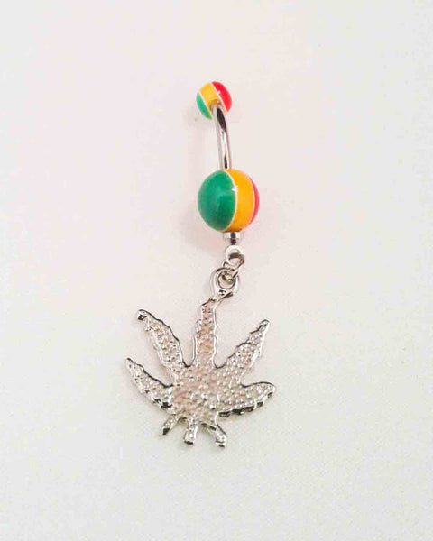 Rasta Leaf Belly Ring
