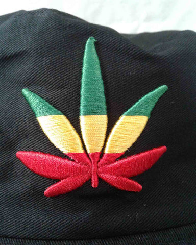 Rasta Leaf Bucket Hat