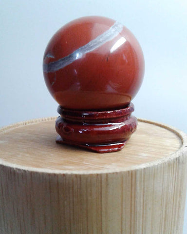 Red Jasper Crystal Ball