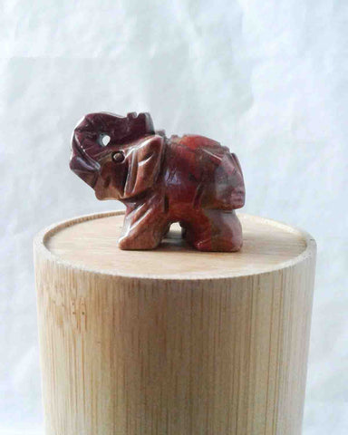 Red Jasper Elephant Meditation Stone