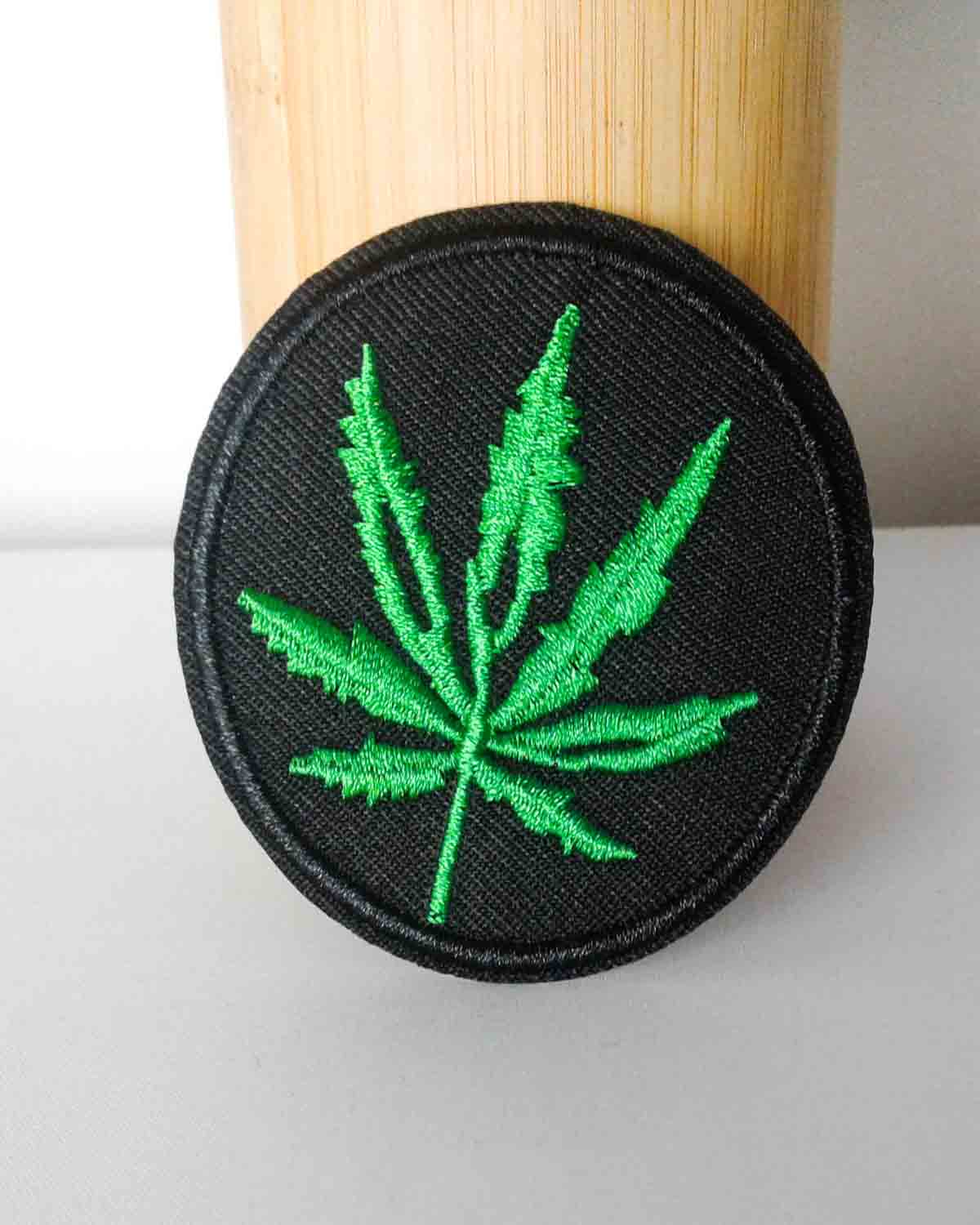 Black & Green Pot Leaf Patch