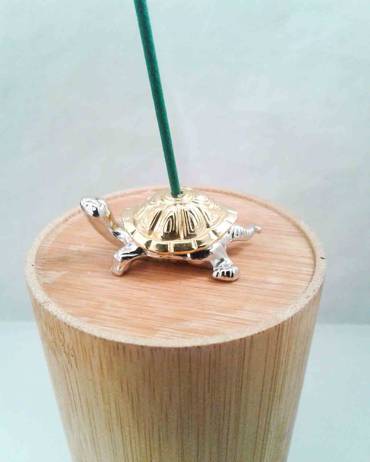 Tiny TwoTone Turtle Incense Holder