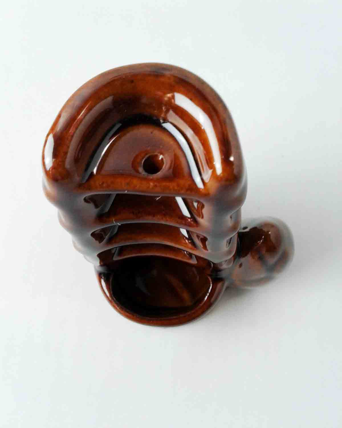 Brown Ceramic Waterfall Backflow Incense Burner