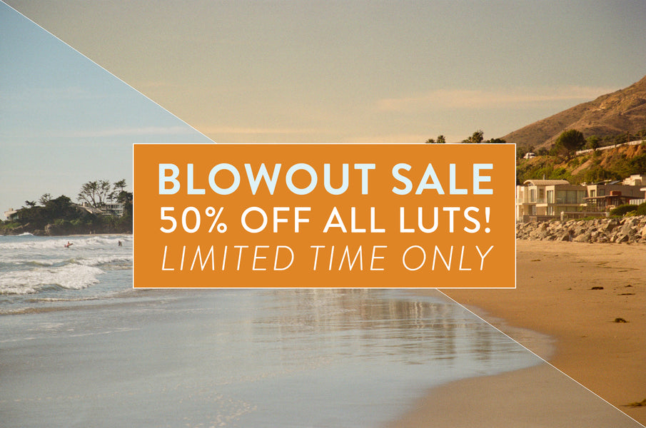 50% Blowout Sale On All CINECOLOR LUTs - Limited Time Only!