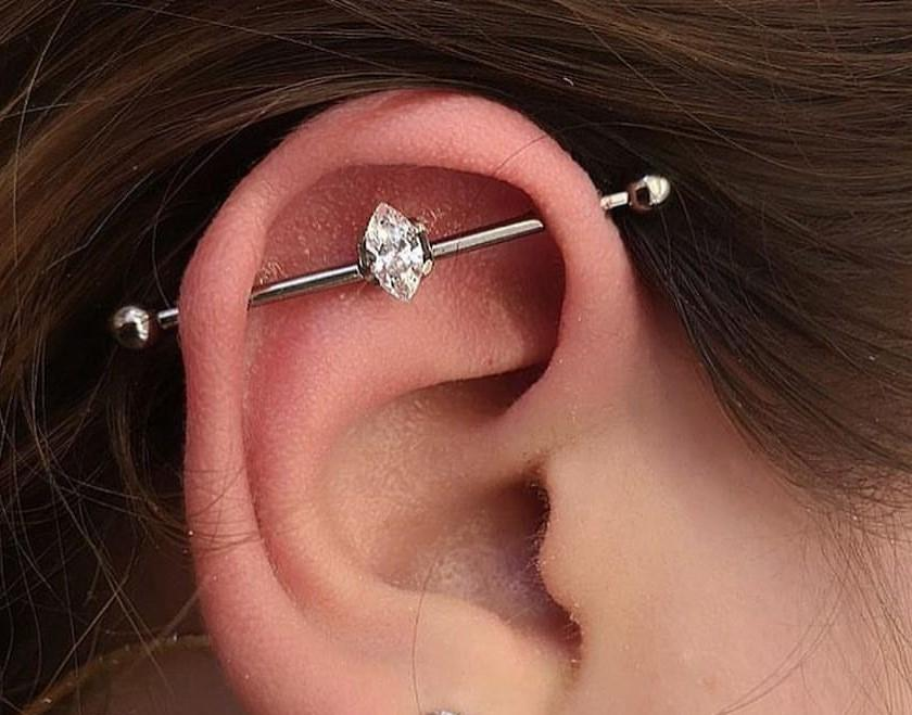 Industrial Piercing - Aftercare, Jewelry, and Tips