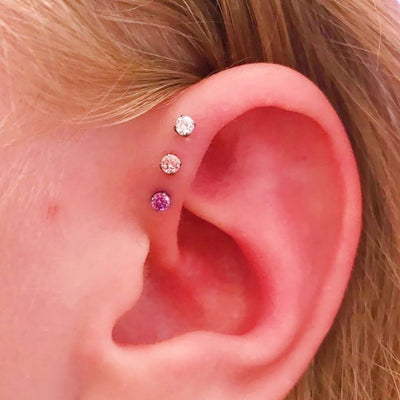 Fancy Purple Swarovski Prong in Titanium by NeoMetal