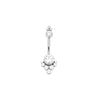 Tiara Swarovski Cluster Navel Bar in Titanium by LeRoi