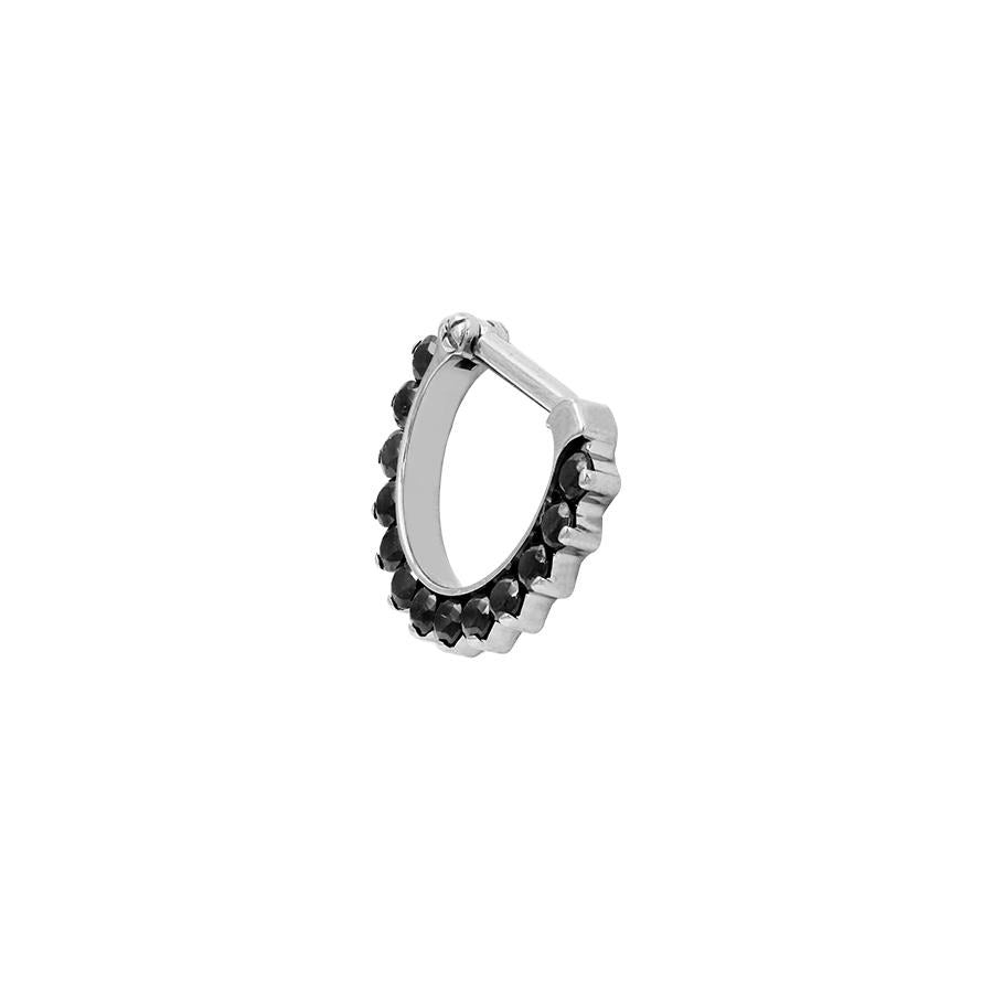 Eternity Odyssey Black Swarovski Clicker in Titanium by Industrial Strength - Pierced
