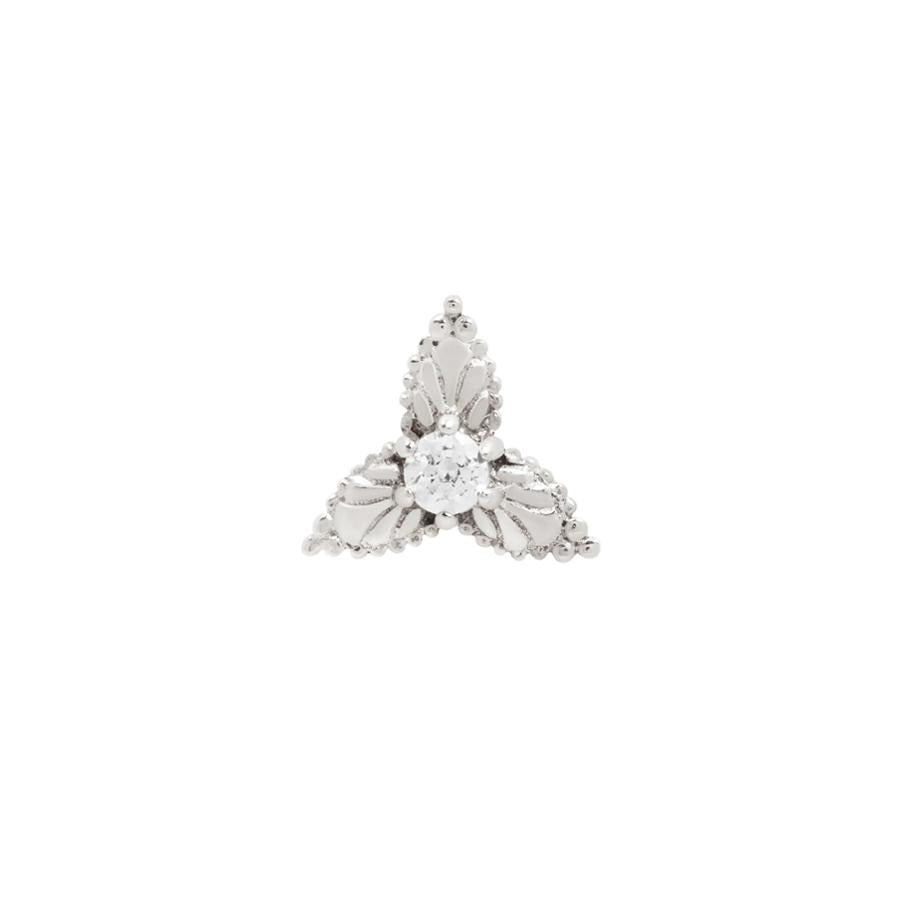 Amelie End in 14k White Gold by Buddha Jewelry - Pierced