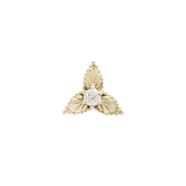 Amelie End in 14k Yellow Gold by Buddha Jewelry - Pierced