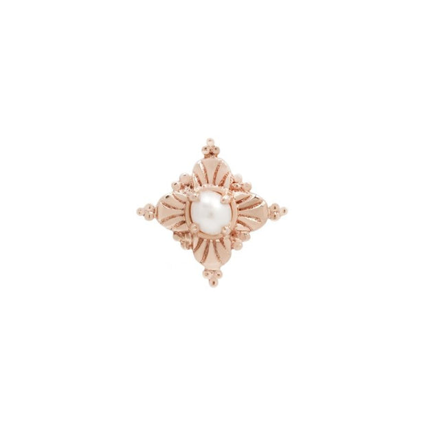 Antoinette Pearl End in 14k Rose Gold by Buddha Jewelry - Pierced