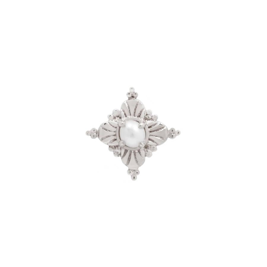 Antoinette Pearl End in 14k White Gold by Buddha Jewelry - Pierced
