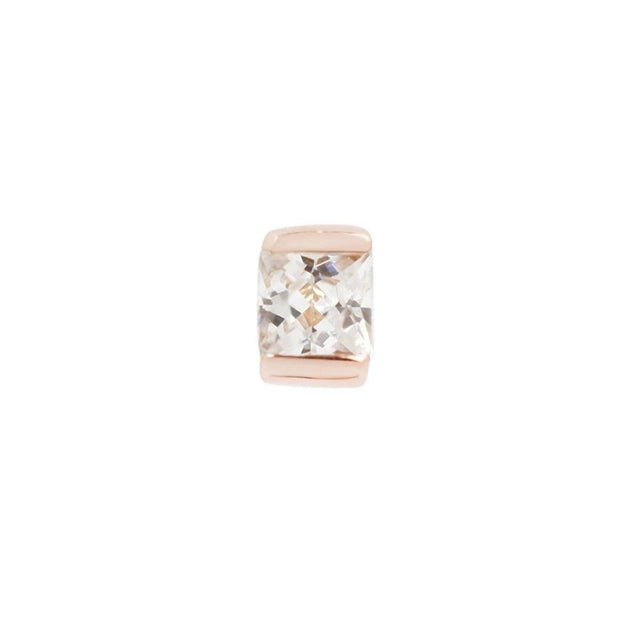 CEO Cubic Zirconia End in 14k Rose Gold by Buddha Jewelry - Pierced
