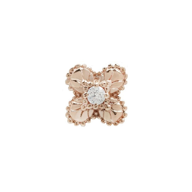 Coco CZ End in 14k Rose Gold by Buddha Jewelry - Pierced