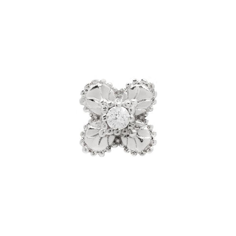 Coco CZ in 14k White Gold by Buddha Jewelry