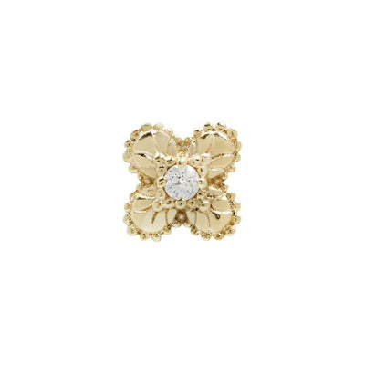 Coco CZ End in 14k Yellow Gold by Buddha Jewelry - Pierced