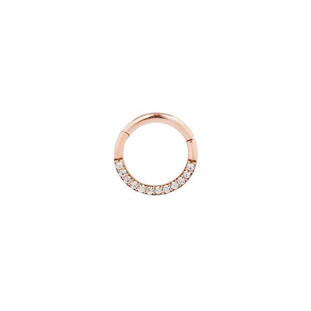 Dia CZ Clicker in 14k Rose Gold by Buddha Jewelry